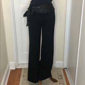 White house black market sequined belted pants